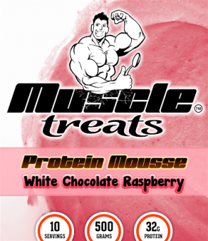 White Chocolate Raspberry Protein Mousse